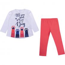 Купить комплект: футболка с длинным рукавом и леггинсы birba для девочки 10964579