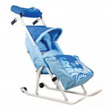 Купить санки-коляска тяни-толкай трансформер люкс зимняя сказка