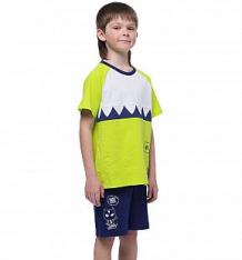 Купить комплект футболка/шорты anta small kids coldplay, цвет: салатовый ( id 10304420 )