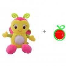 Купить развивающая игрушка forest kids музыкальная бабочка и погремушка яблоко