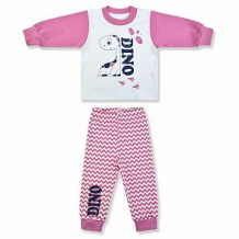 Купить пижама джемпер/брюки leo dino. зиг-заг, цвет: белый/розовый ( id 12614668 )