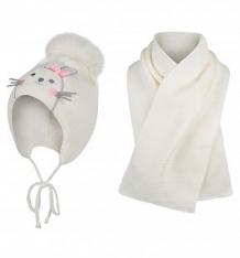 Купить комплект шапка/шарф ewa bunny, цвет: бежевый ( id 9805707 )