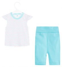 Купить комплект футболка/шорты aga girl, цвет: голубой 576