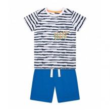 """Купить футболка """"волны океана"""" и шорты в комплекте, белый, синий mothercare 4376758"""
