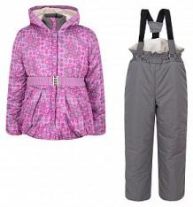 Купить комплект куртка/полукомбинезон ursindo баска, цвет: серый/фиолетовый ( id 7114885 )