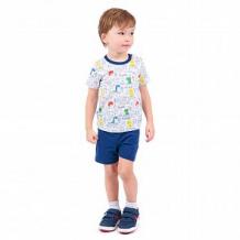 Купить футболка leader kids динозаврик, цвет: белый ( id 12064360 )