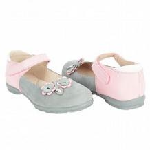 Купить туфли скороход, цвет: розовый/серый ( id 10617446 )