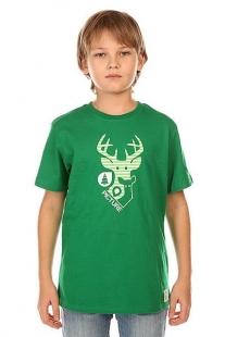 Купить футболка детская picture organic dear dark green зеленый ( id 1132435 )