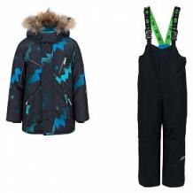 Купить комплект куртка/полукомбинезон stella's kids groza, цвет: черный/бирюзовый ( id 11261486 )
