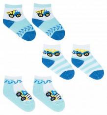 Купить носки yo!, цвет: белый/голубой ( id 9826602 )