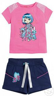 Купить комплект футболка/шорты pelican, цвет: розовый ( id 2684231 )