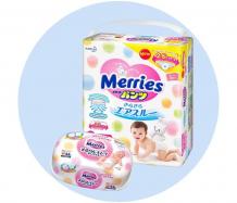 Купить merries подгузники-трусики m (6-11 кг) 58 шт. с влажными салфетками 54 шт.