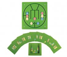 Купить деревянная игрушка beleduc настенный игровой элемент три в ряд 23628