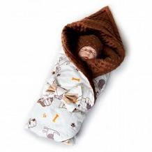 Купить комплект на выписку собачки slingme, цвет: коричневый комбинезон/одеяло/шапка/снуд/бант 90 х 90 см ( id 12797986 )
