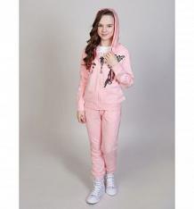 Купить комплект толстовка/брюки luminoso фламинго, цвет: розовый ( id 10340222 )