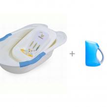 Купить pituso детская ванна с горкой для купания и кувшин munchkin