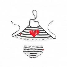 Купить купальник лиф/плавки happy baby, цвет: белый/черный ( id 10651901 )