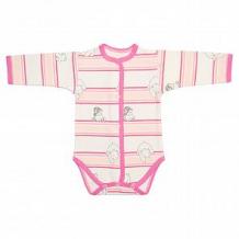 Купить боди чудесные одежки, цвет: розовый/белый ( id 12492490 )