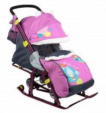 Санки-коляска Nika Kids (7-2), цвет: коллаж-снеговик/орхидея ( ID 6510697 )