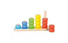 Купить деревянная игрушка bino обучающая пирамидка 81036