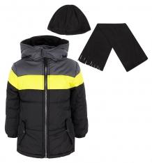 Купить куртка ixtreme by broadway kids, цвет: серый/желтый ix974205-blk
