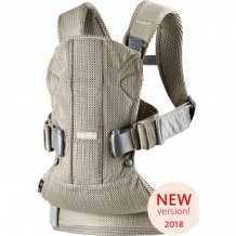 Купить рюкзак-переноска babybjorn one air mesh greige, cеро-бежевый babybjorn 996965844