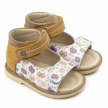 Купить сандалии tapiboo, цвет: желтый/белый ( id 12346354 )