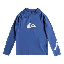 Гидрофутболка детская Quiksilver All Time Kid Electric Real Blue синий ( ID 1204430 )