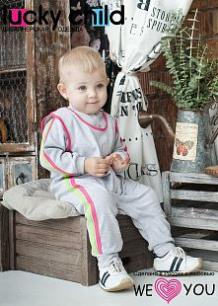 Ползунки Lucky Child, цвет: серый ( ID 427477 )