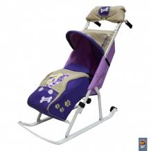 Купить санки-коляска тяни-толкай комфорт люкс 11 с муфтой