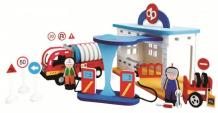Купить конструктор bebox мягкий автозаправочная станция 134 детали m5919