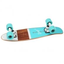 Купить скейт мини круизер eastcoast shelby ocean 6.25 x 23 (58.4 см) голубой,коричневый