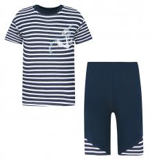 Купить комплект футболка/шорты aga, цвет: синий/белый ( id 8227321 )