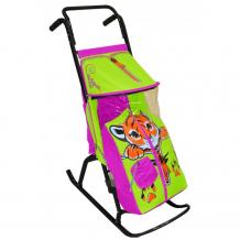 Купить санки-коляска r-toys снегурочка 2-р тигренок