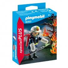 Купить конструктор playmobil экстра-набор: пожарник с деревом 9093pm