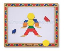 Купить деревянная игрушка melissa & doug набор магнитных деталей придумай свой рисунок 3590m
