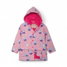Купить плащ hatley с меняющимся под дождем рисунком, розовый mothercare 997105706