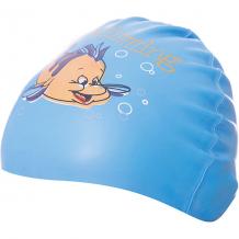 Силиконовая шапочка для плавания Dobest, с рисунком, голубая ( ID 7687414 )