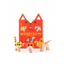 Купить деревянная игрушка kipod toys набор-оригами животные kw-100