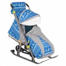 Купить санки-коляска galaxy зимняя ночь, цвет: олени на синем ( id 11518786 )