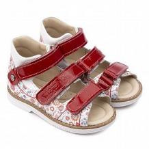 Купить сандалии tapiboo, цвет: красный/белый ( id 12348382 )
