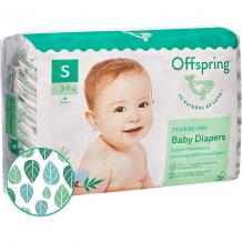 Купить эко-подгузники offspring листочки s 3-6 кг., 48 шт. ( id 10827146 )