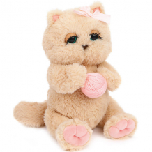 """Купить мягкая игрушка angel collection """"киска персик с клубком"""", бежево-розовая ( id 12969788 )"""