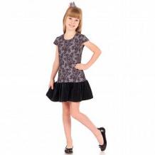Купить платье апрель праздничный вечер, цвет: серый/черный ( id 12015652 )