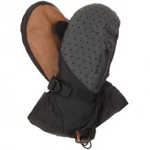 Купить варежки сноубордические женские dakine leather sequoia mitt pixie коричневый,черный,серый ( id 1196378 )