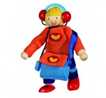 Купить goki кукла деревянная сын 51723