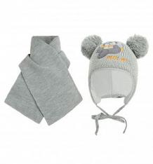 Купить комплект шапка/шарф ewa misio, цвет: серый ( id 9767076 )