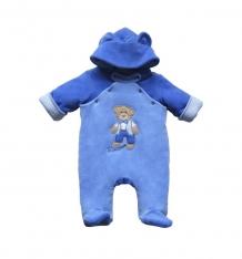 Купить комбинезон soni kids мишка джентельмен, цвет: синий/бежевый ( id 3700974 )