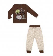 Купить комплект джемпер/брюки апрель сказки, цвет: бежевый/коричневый ( id 10456463 )