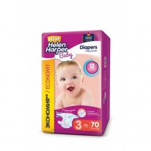 Купить helen harper подгузники baby midi (4-9 кг) 70 шт. 2310399/2313054